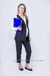 Костюм для беременных офисный, цвет темно-серый, артикул 680