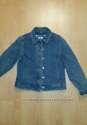 фирменная джинсовая теплая куртка New Look р. 12