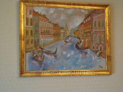 интерьерная картина на шелке Венецианский канал