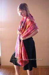 шелковые шарфы батик шибори
