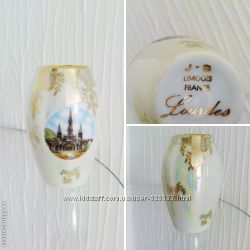 Антикварная мини ваза LIMOGES, фарфор, 1950г, Франция