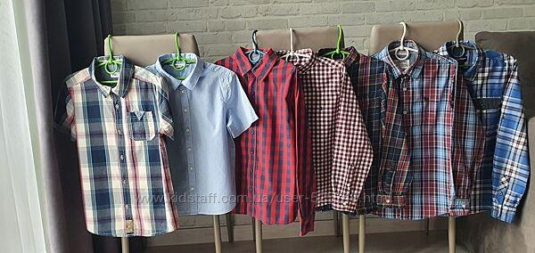 Фирменные рубашки 8-10л.