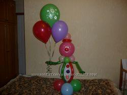 Гелевые шары и украшение залов