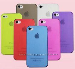 Чехол пластик для телефона iPhone 4 4S.