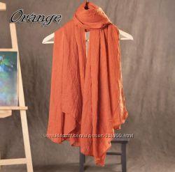 Однотонный легкий шарф-палантин, большой размер