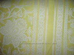 ткань шторная желто белого цвета