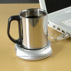 USB-подставка подогреватель для кружки  USB-Hub 4-port
