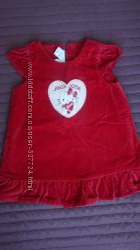 Нарядное бархатное платье H&M HELLO KITTY р-р 68