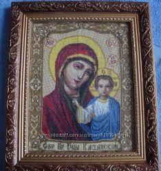 Вышитая икона Пресвятая Богородица Казанская