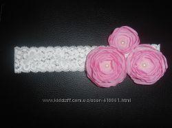 нежная повязочка Цветы шиповника
