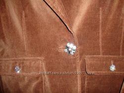 Пиджак нарядный бархат коричневый