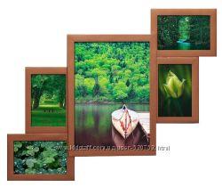 Мультирамка на 5 фотографий есть цвета