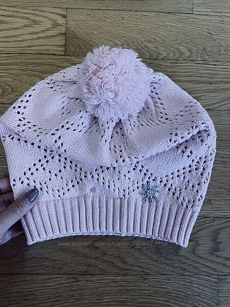 Вязаная шапочка-берет