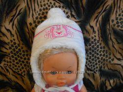 Теплая польская зимняя шапка 3-10 мес.