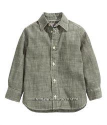 Модные рубашечки для мальчика     H&M  цвета размеры