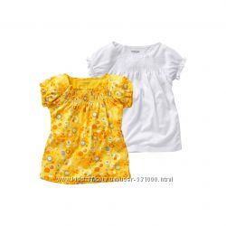 Красивенькие футболочки для девочек VERTBAUDET  цена за 2шт