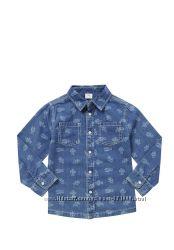 Модные джинсовые рубашечки для мальчика F&F