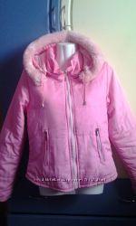 Розовая курточка демисезонная раз 44-46