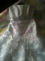Свадебное платье дешево плюс подарок перчатки