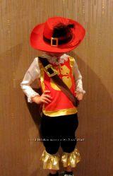 Прокат мушкетера с шляпой 3-5 лет 98-110см