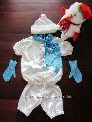 Прокат костюма Снеговик 4-6 лет, 104-116 см