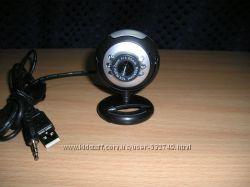 WEB USB камера 1, 3 Мрх с микрофоном и подсветкой