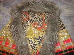 шаль платок с мехом