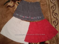 Вельветовые юбки на 2-3 года