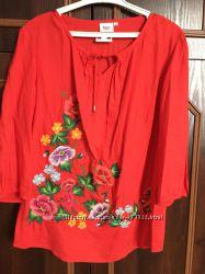 червона вишиваночка розм. 50-52
