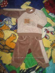 Велюровый костюм Бемби р 80-86 одет 3 раза