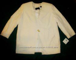 Эллегантный белый пиджак Dana Buchman, большой размер, США