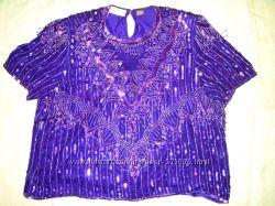 Шикарная блузка в бисере Laurence Kazar, Индия