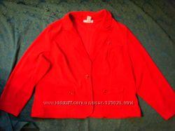Эллегантный красный пиджак Sag Harbor, жакет большой размер 24, США