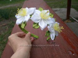 Обруч  ручной работы Когда цветут нарциссы