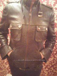 куртка черная кожа бу