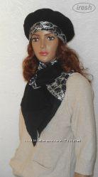 Комплект валяный. Берет и шарф.