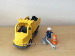 Lego Duplo самосвал 5651, разгрузка, утрамбовщик бетона