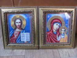 Венчальная пара Господь Вседержитель и Божья Матерь Казанская