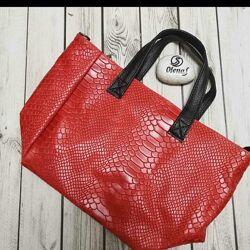 Итальянская кожаная сумка мини шопер. Оригинал.