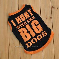 Хлопок футболка для собак одежда