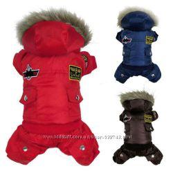 Зима Очень теплый комбинезон для собак котов щенков одежда