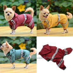 Дождевик плащ для собак щенков одежда