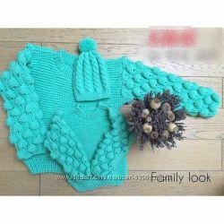 свитерок Малинка для мамы и дочурки