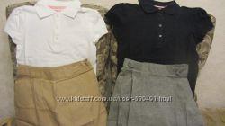Школьные юбки серого и цвета хаки для модниц.