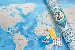 Скретч-карта мира Discovery Map