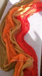 Шифоновый шарф градация, жатка