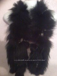 Меховый шарф песец