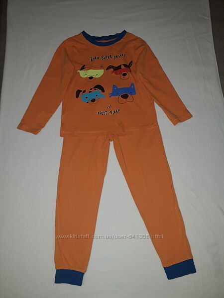 Пижамы на мальчика Rebel by Primark, George, Lupilu