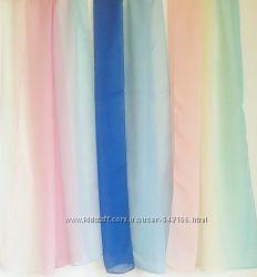 Шифоновый шарф двух-  трёхцветный