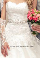 Свадебное платье белое, S-M
